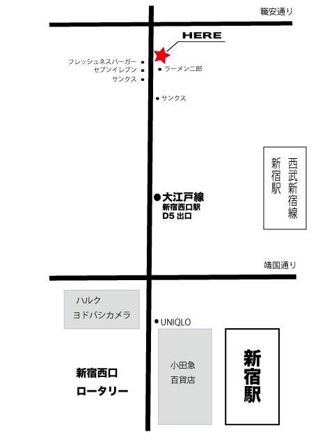 新宿azitoのアクセスMAP